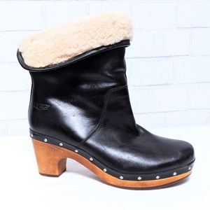 Ugg Australia Lynnea Leather Pull-on Ankle Boot 8